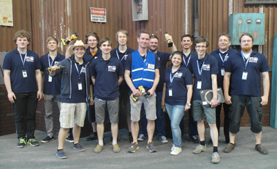 Team NimbRo Rescue at the DARPA Robotics Challenge Finals in Pomona, CA