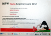 NRW Young Scientist Award 2012 Certificate
