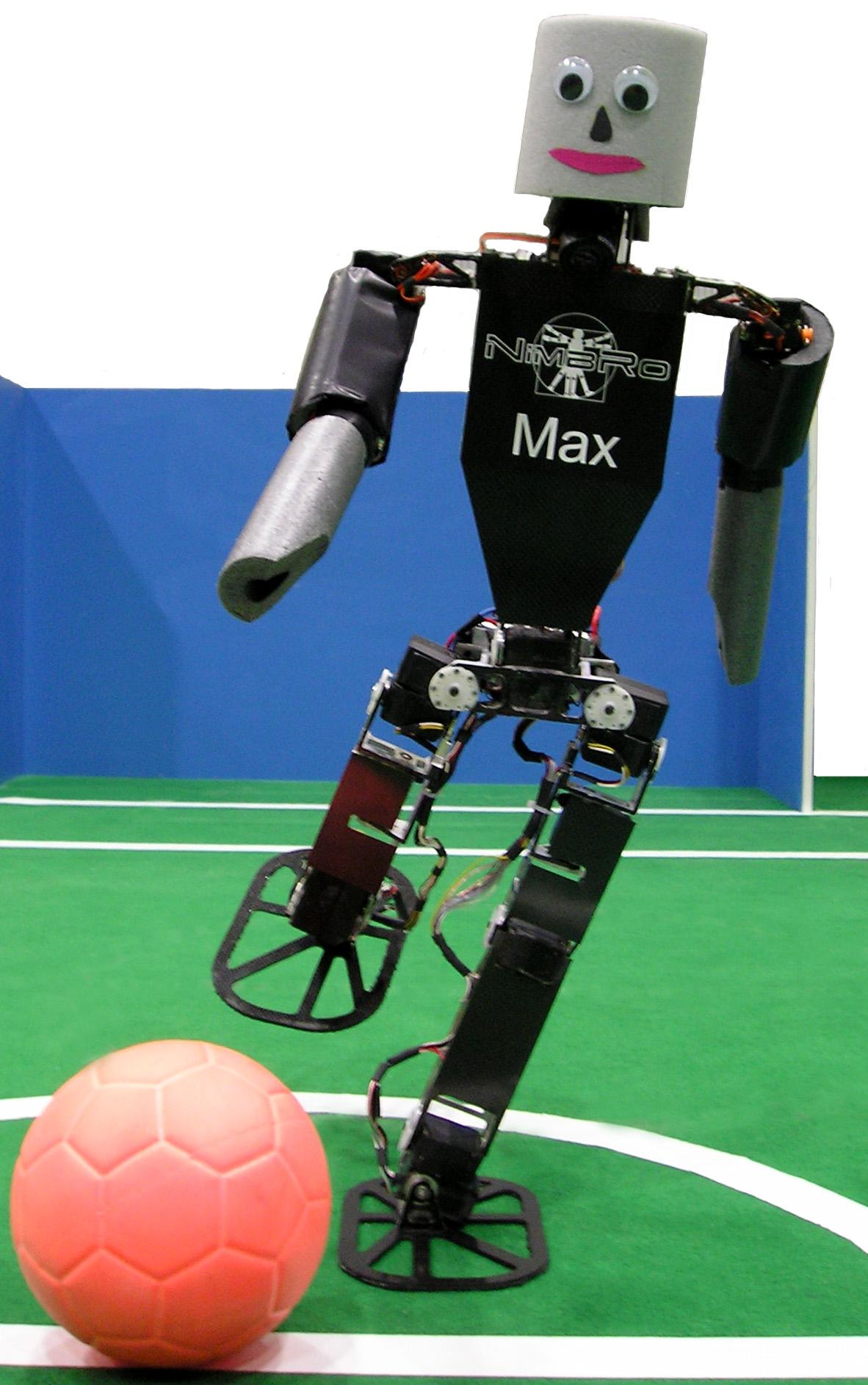 Los robots que juegan al fútbol